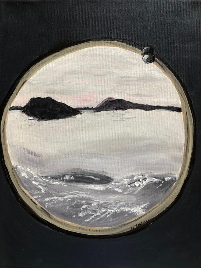 Porthole (acrylic, 9x12) - NFS