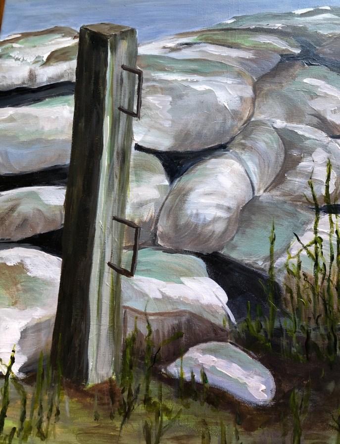 """Stone Wall"" (acrylic) - NFS"