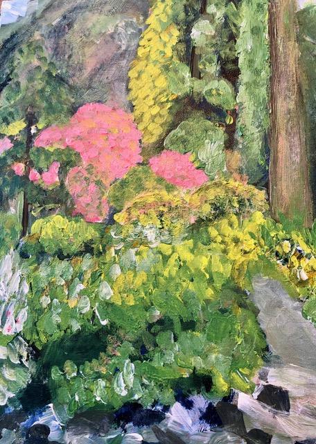 "Kathy Webster ""Garden Walk"" (acrylic), $50"