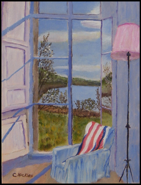 "Chuck Nickles ""Poppy's Chair"" (oil), Neg"