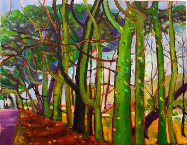 "Carol Hansen ""The Vineyard"" (oil, 11x14), $150"