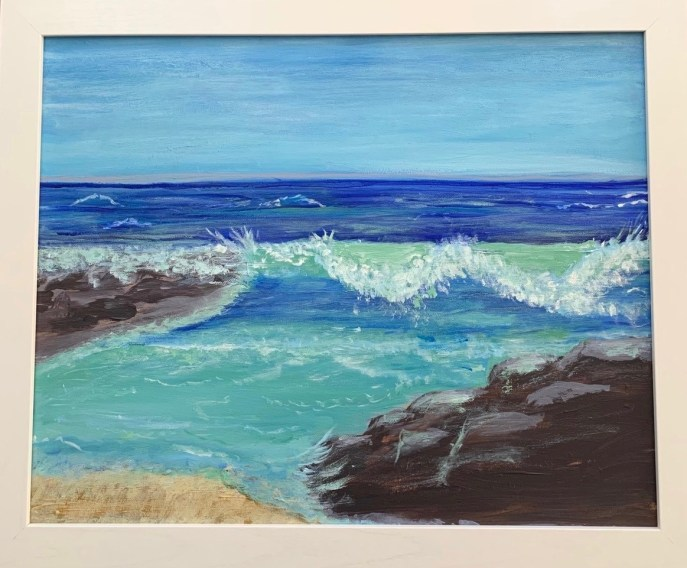Wave (acrylic on canvas), 16 x 20 - Price negotiable