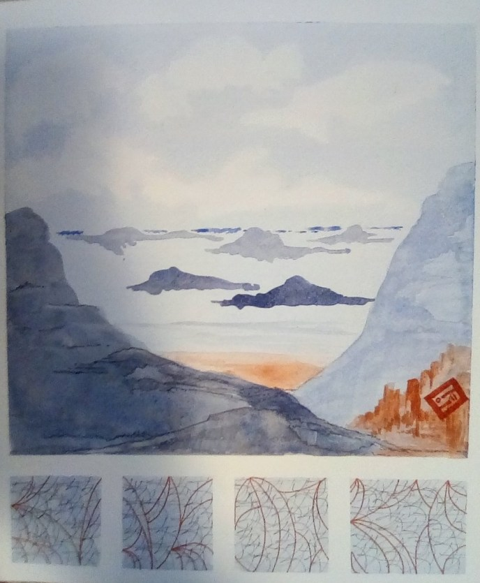 """Winter Sea"" (watercolor, India ink), NFS"