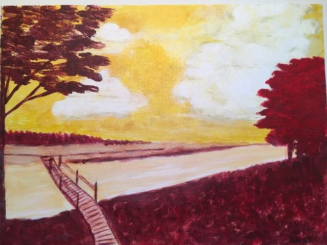 "Donna Poland ""River View"" (acrylic), Neg"