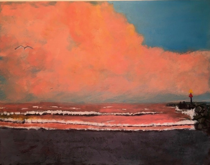 """Sunset in Galilee"" (acrylic) - Negotiable"