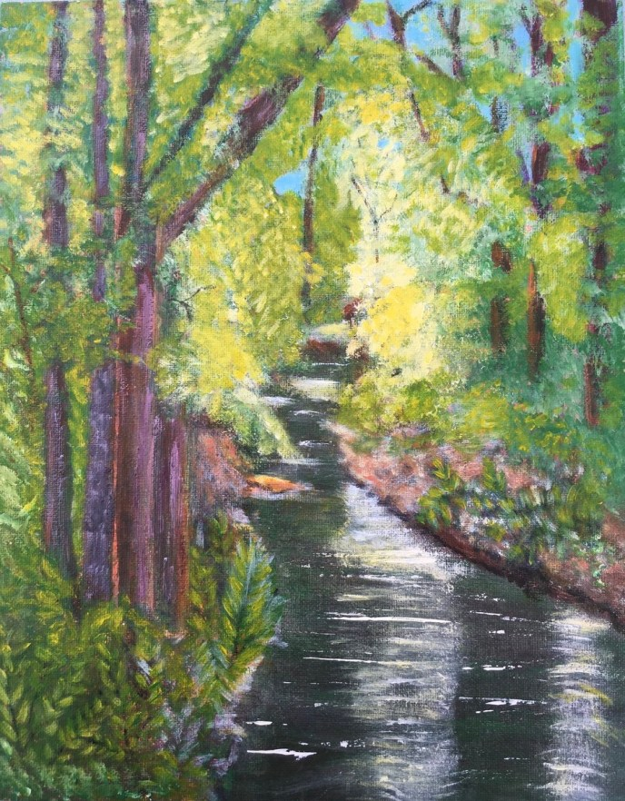 """Wood River"" (acrylic) - Negotiable"