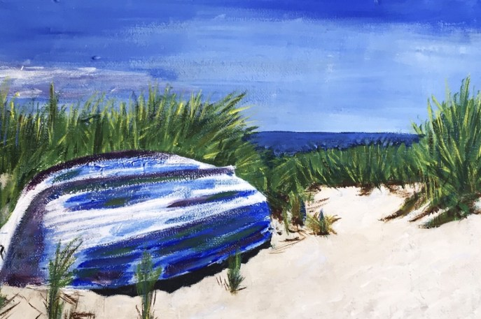 Beached (acrylic on canvas, 9x12) - Price on request