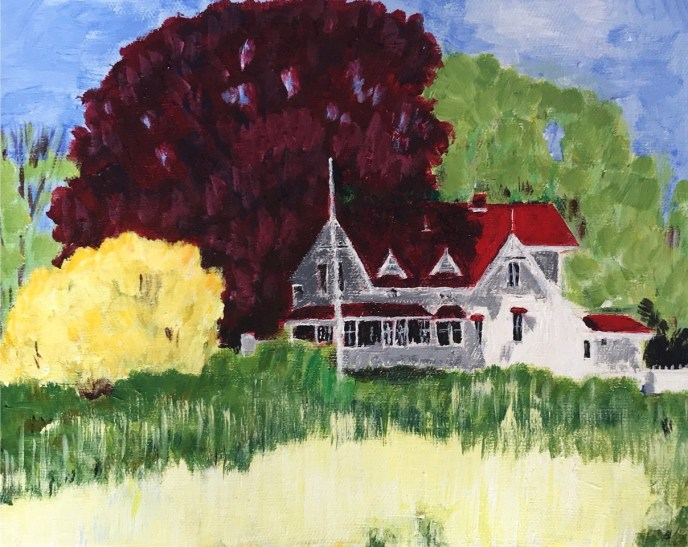 """House on Mount Hope Bay"" (acrylic) - Negotiable"