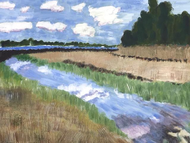 "Susan Van Horne ""Osamequin Nature Preserve"" (acrylic), Neg"