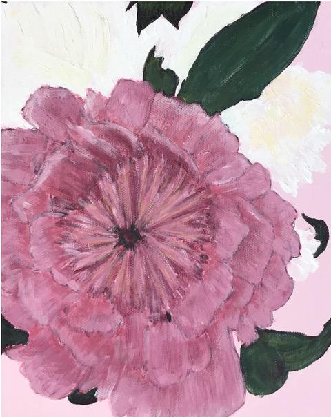 "Susan Van Horne ""Pink and White Peonies"" (acrylic), Neg"