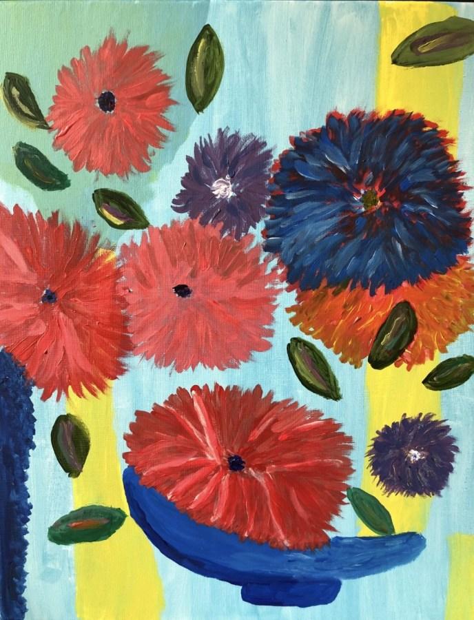 Floating Flowers (acrylic, 16x20) - NFS