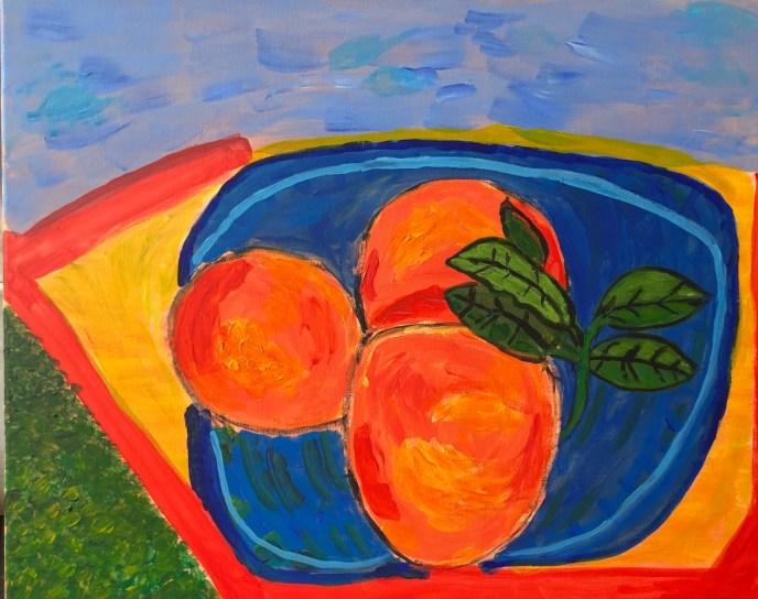 """""""Peaches on the Beach"""" (acrylic) - NFS"""