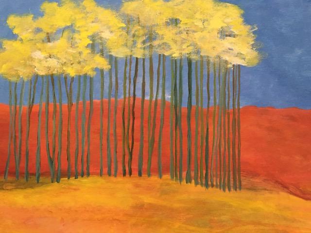 Yellow Trees (acrylic), Price negotiable
