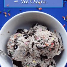 Copycat Birthday Cake Remix Ice Cream Homemade Ice Cream Recipe
