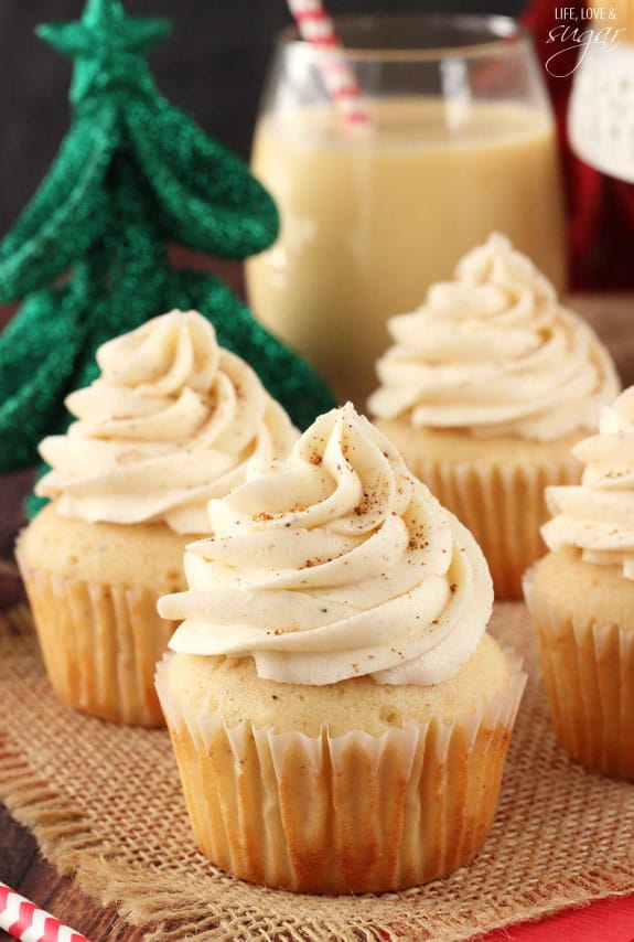 Eggnog Cupcakes Life Love And Sugar