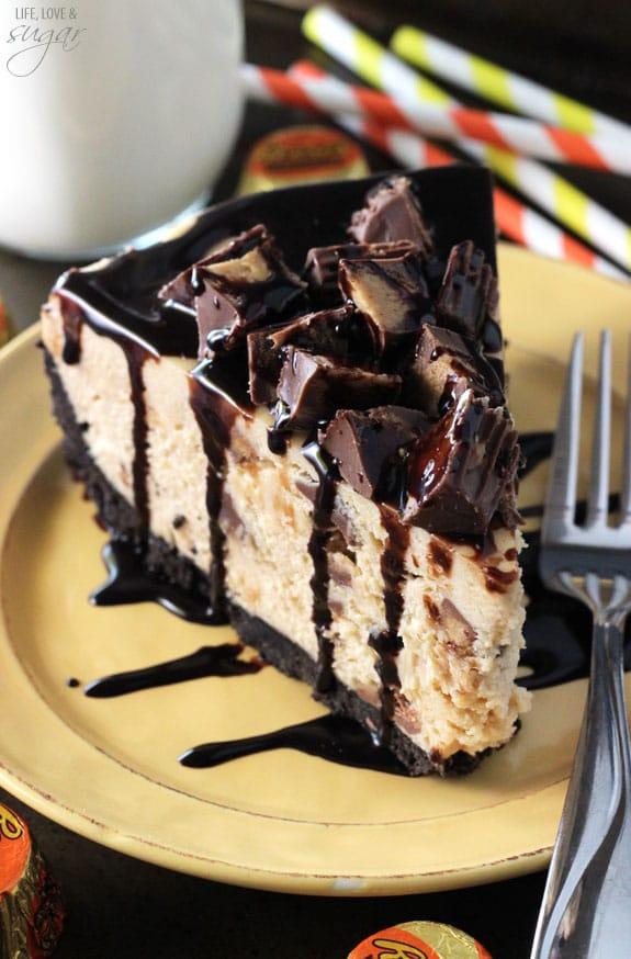 No Bake Reeses Peanut Butter Cheesecake Life Love And Sugar