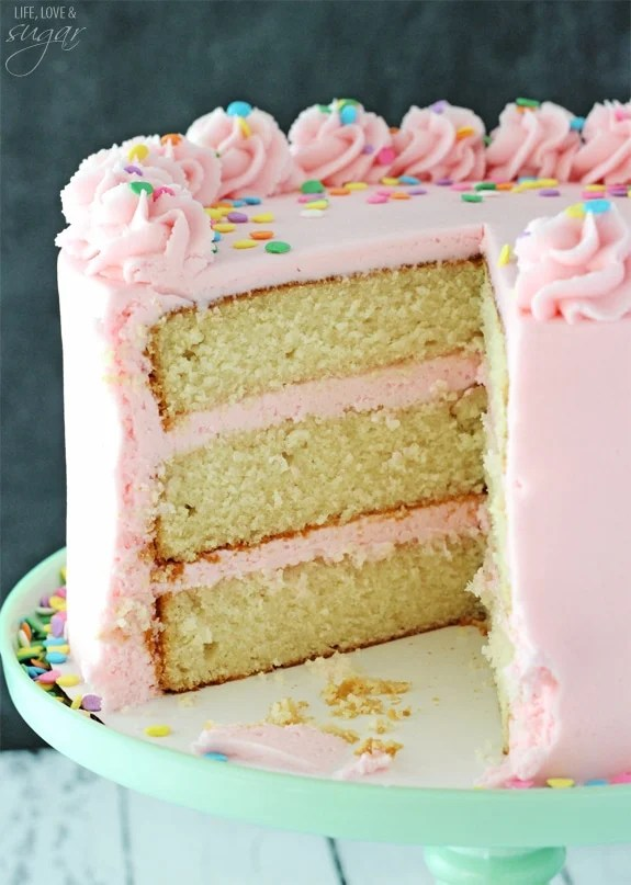 Moist And Fluffy Vanilla Cake Life Love And Sugar