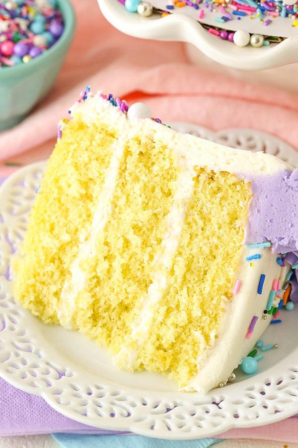 Best Vanilla Layer Cake Easy Moist Amp Fluffy Vanilla