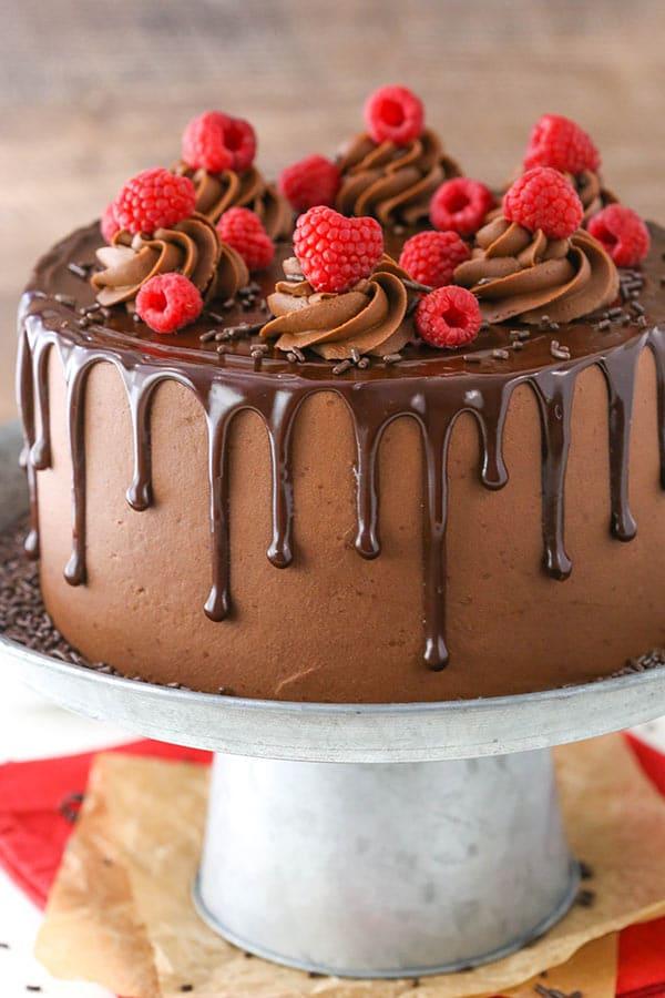 Raspberry Chocolate Layer Cake Chocolate Cake Amp Ganache
