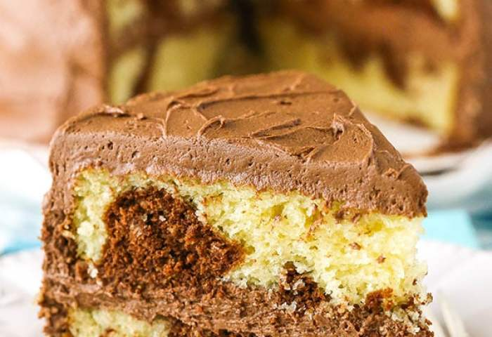 Marble Cake How To Make A Fluffy Chocolate Vanilla Marble Cake