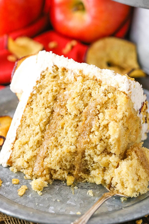 This Cinnamon Apple Layer Cake is incredibly moist, made with fresh apples and has the most amazing apple filling! Its the perfect fall cake!