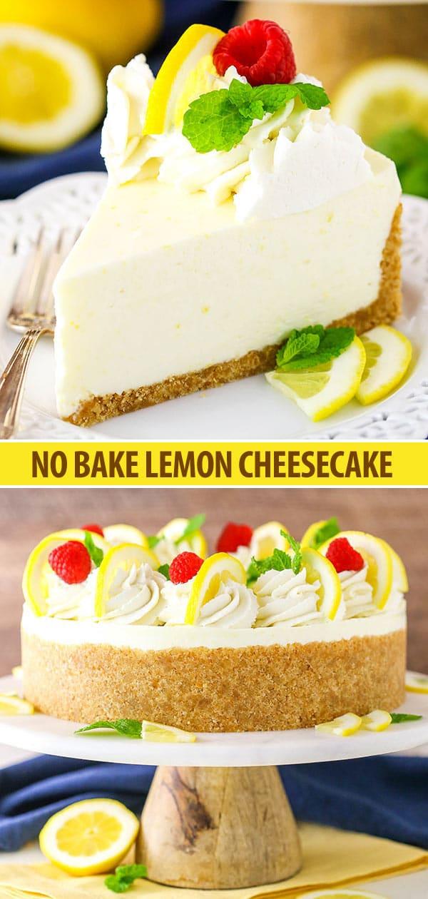 No Bake Lemon Cheesecake Creamy Tart And Easy To Make It S Full Of