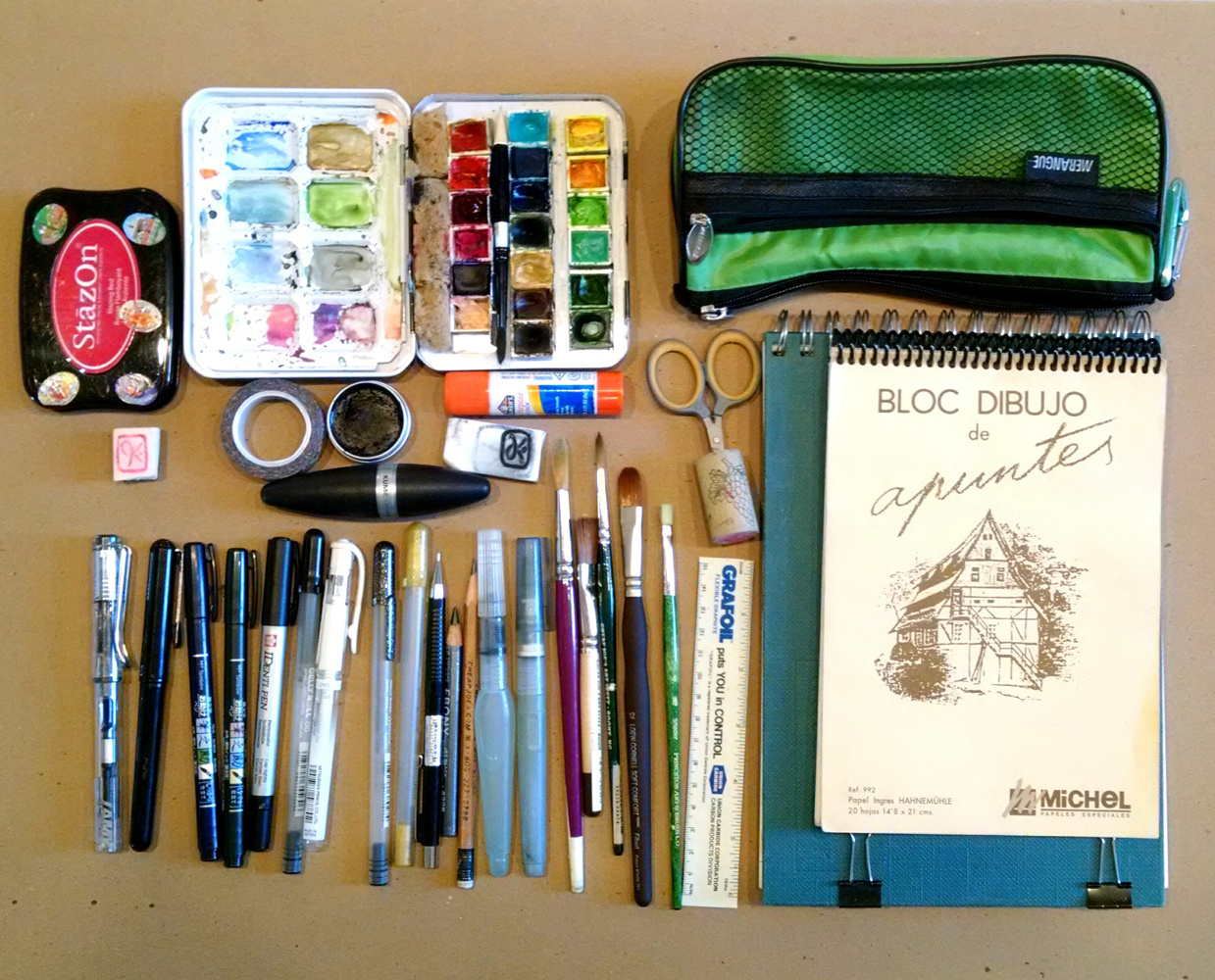 Sketching Supplies That I Took To The Urban Sketchers