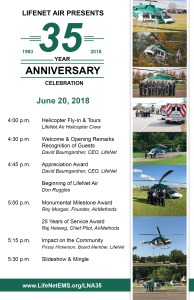 LifeNet Air 35th Anniversary Celebration Agenda