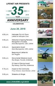 LifeNet Air 35th Anniversary Celebration Agenda