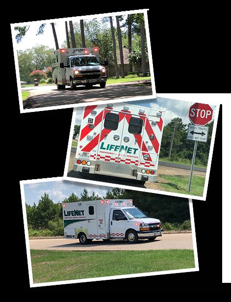 Lifenet Ambulances provide emergency medical service (EMS) in Texas, Arkansas, and Oklahoma.
