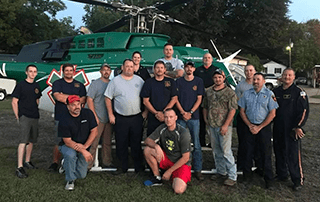 Malvern Fire Department attends a LZ Class taught by LifeNet Air