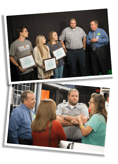 LifeNet Lifesaver Award presented in October 2016 to Texas High Students.