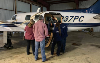 LifeNet field crew attend a fixed wing medical transport class to earn certification to fly patients via fixed wing transport.