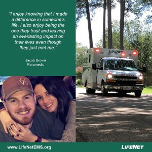 Jacob Brown is a paramedic at LifeNet EMS in Texarkana, Texas.