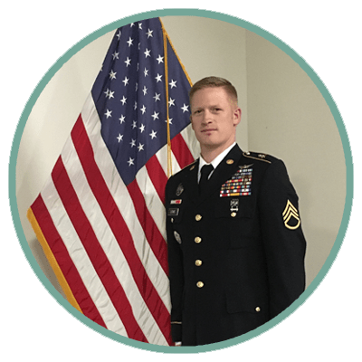 Grant Lewis is a member of the US Army National Guard.