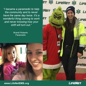 Brandi Roberts, Paramedic for LifeNet in Denison, Texas