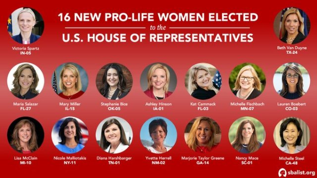 16 New Pro-Life Women Have Been Elected to Congress to Stop Nancy Pelosi's Abortion Agenda