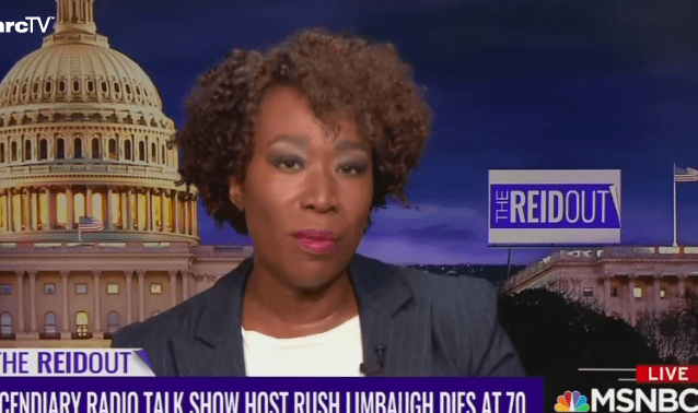 MSNBC Host Joy Reid: White People in Red States Want Black People to Die From COVID