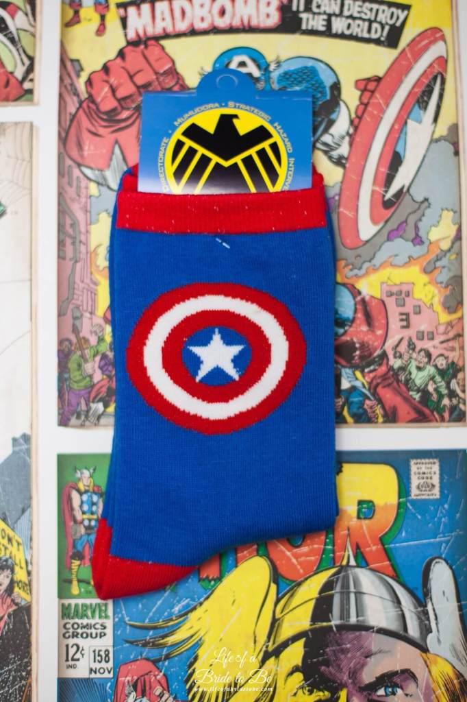 'Captain America' Socks