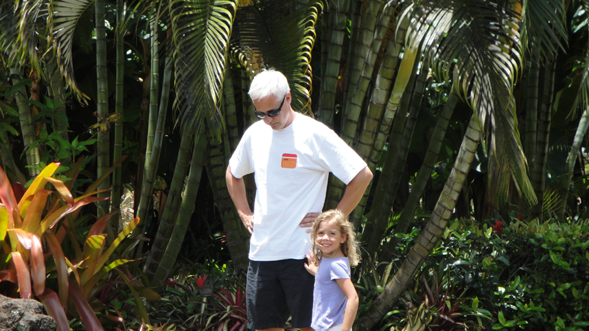 Architect Bob Borson with daughter Kate in Hawaii