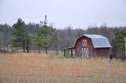 Lightning Red Barn