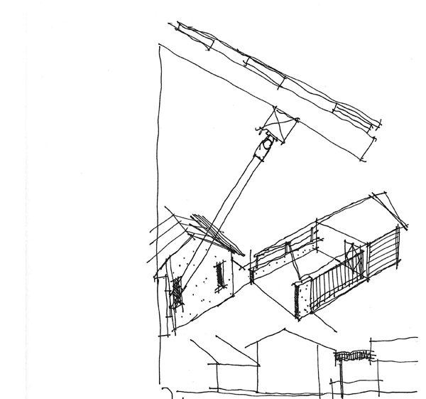 Sketches from Dallas Architect Bob Borson circa 1996