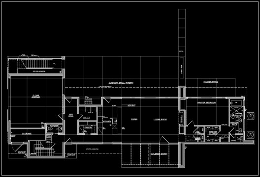 Weekend House Lower Level plan