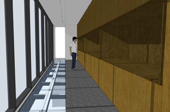 Bridge Gallery millwork study
