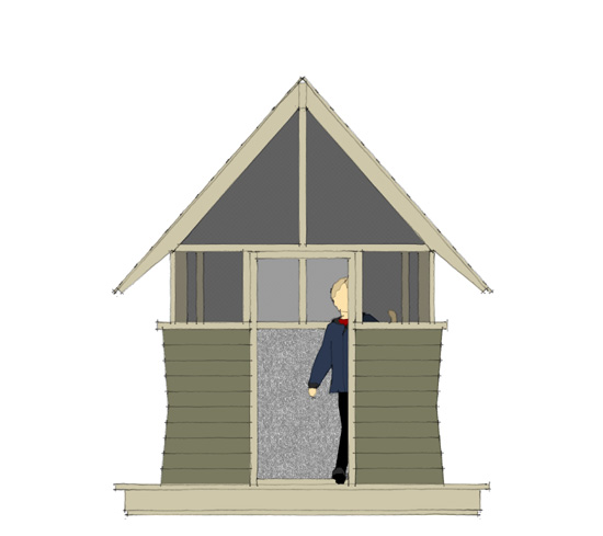 Bug Playhouse - Front Elevation
