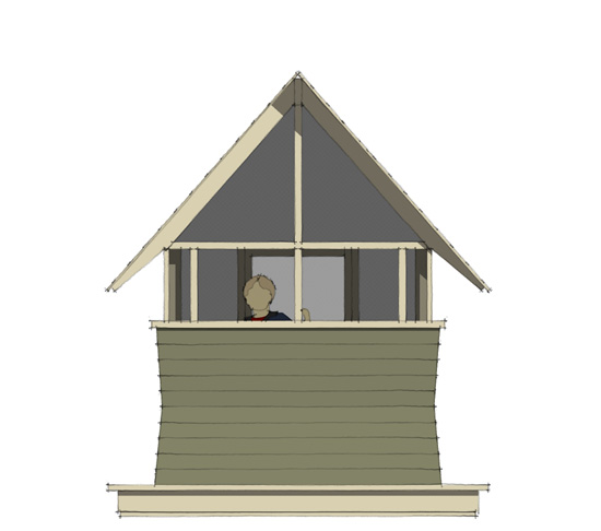 Bug Playhouse - Rear Elevation