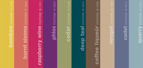 Pantone Fall 2011 Mens Colors