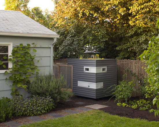 Modern chicken coop via Dwell