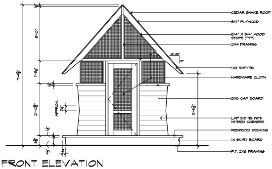 BugHouse Playhouse Construction Drawing by Dallas Architect Bob Borson