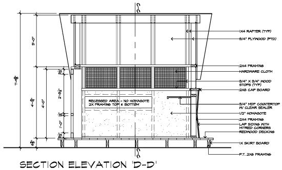 Casa 2011 Bug House Section Elevation DD
